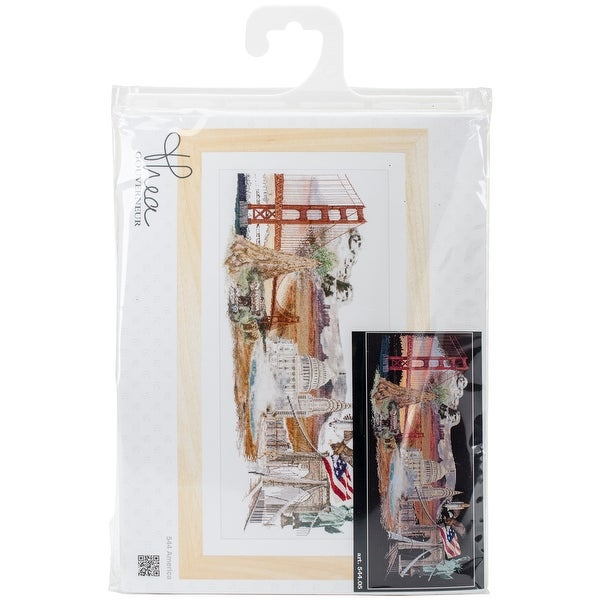 """America On Aida Counted Cross Stitch Kit-29""""X13.5"""" 18 Count"""
