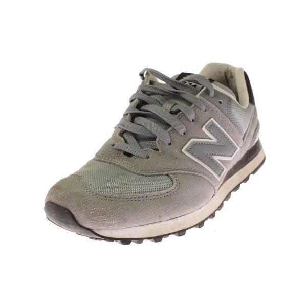 New Balance Mens 574 Core Plus Athletic Shoes Suede Mesh Inset