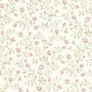 Brewster 347-66809 Delmar Pink Vintage Rose Trail Wallpaper