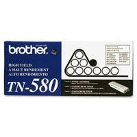 Brother Tn580 High Yield Toner Cartridge - Retail Packaging - Black