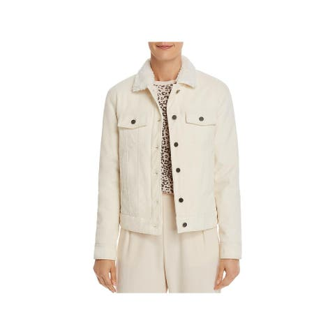 ATM Womens Jacket Courduroy Fall & Spring - Chalk - XS
