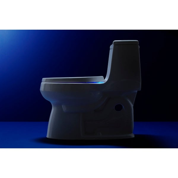 KOHLER Lighting Elongated Toilet Seat White Slow Quiet Close Night Light Battery
