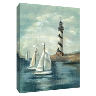 "PTM Images 9-154729  PTM Canvas Collection 10"" x 8"" - ""Northeastern Breeze II"" Giclee Lighthouses and Sailboats Art Print on"