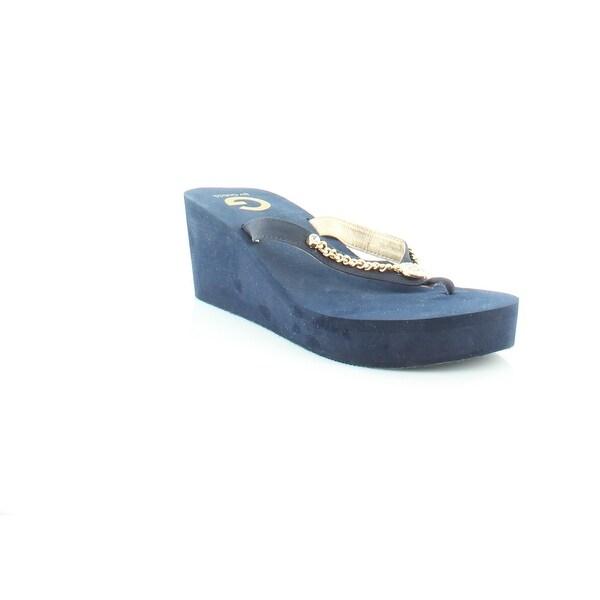 G by Guess Statuz Women's Sandals & Flip Flops Dark Blue - 11