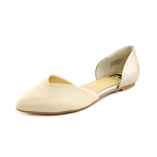 BC Footwear Up All Night II Women  Pointed Toe Leather Nude Flats