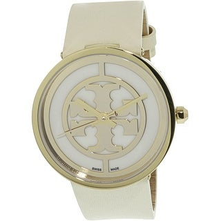 Tory Burch Women's Reva TRB4023 Gold Leather Quartz Fashion Watch