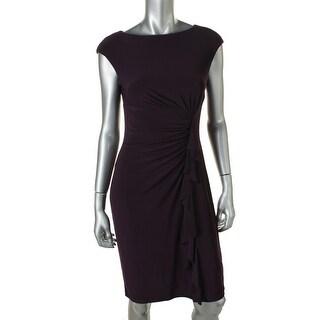 American Living Womens Jersey Ruffled Cocktail Dress - 12