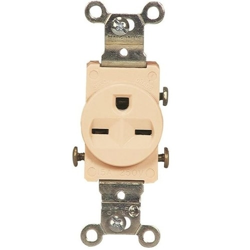 Shop Cooper Wiring 816vbox Standard Single Receptacle 250 Volt. Cooper Wiring 816vbox Standard Single Receptacle 250 Volt Ivory. Wiring. 250 Volt Single Outlet Wiring At Scoala.co