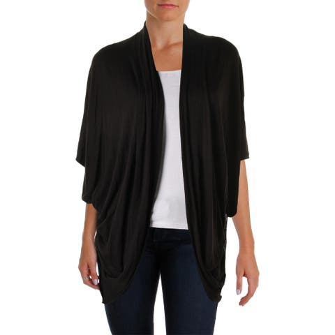 Cupio Womens Cardigan Top Colorblock Kimono Sleeves