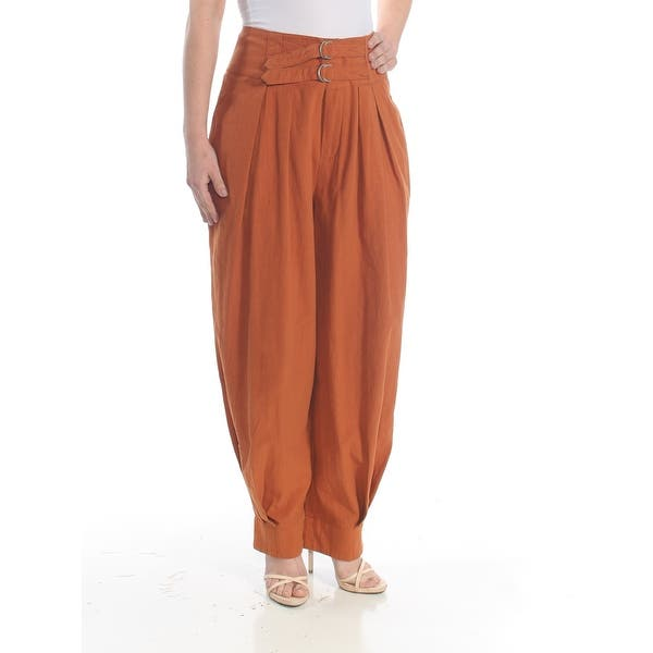 43066f9e57151 FREE PEOPLE Womens Brown Harem Pants Size: 4