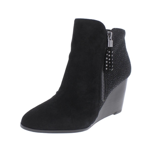 Karl Lagerfeld Womens Julita Booties Suede Beaded - 6 medium (b,m)