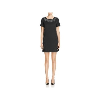 Cupcakes and Cashmere Womens Madora Cocktail Dress Textured Embellished