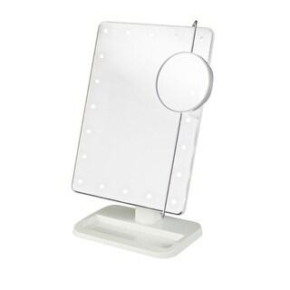 Jerdon Portable Led Lighted Adjustable Makeup Mirror, 10xMagnification