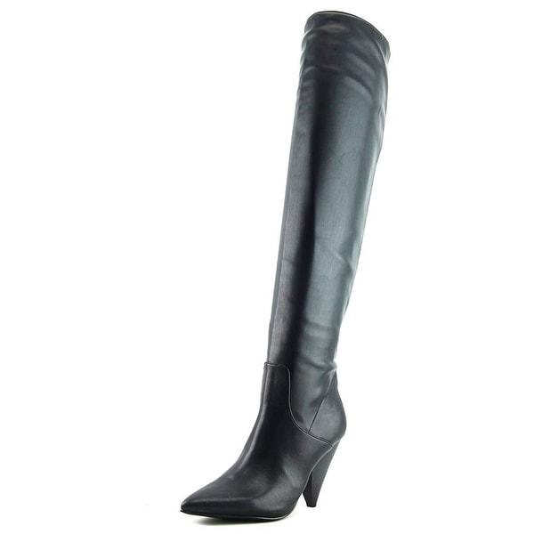 Indigo Rd. Fayen2 Women Pointed Toe Synthetic Black Knee High Boot