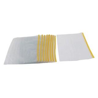 Unique Bargains 10pcs Zip Up School Exam Receipt A4 Paper Water Resistant PVC File Bag