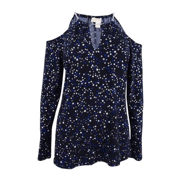 3c1e85db303fc7 Shop Michael Kors Women s Star-Print Cold-Shoulder Chain Top (M ...