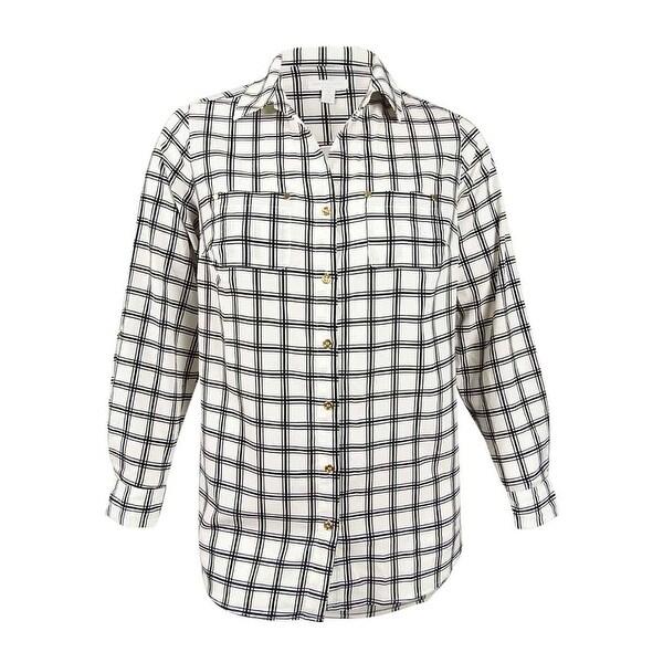 ae8b8583448 Shop Charter Club Women s Plus Size Utility Shirt (0X