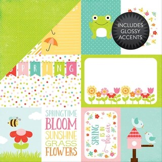"""Celebrate Spring Glossy Accent Double-Sided Cardstock 12""""X12-Journaling Cards"""