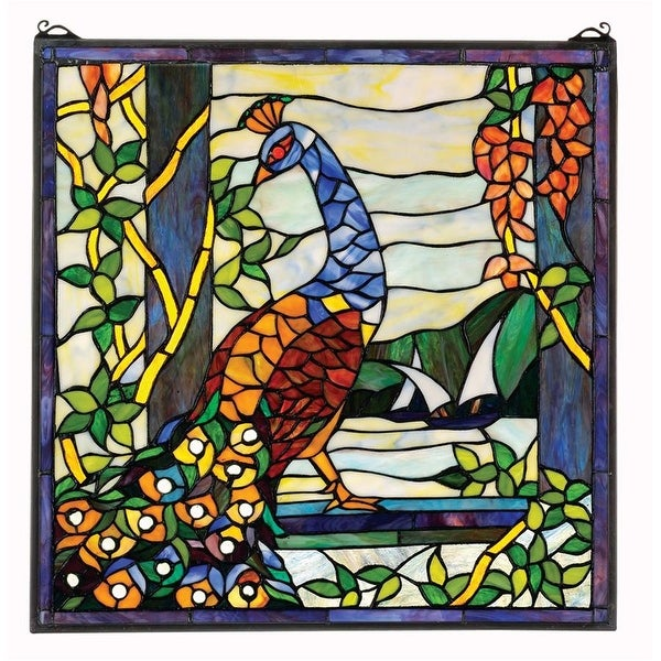 Design Toscano The Pea X27 S Garden Stained Gl Window