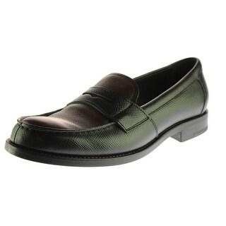 Prada Womens Leather Moc Toe Penny Loafers - 38