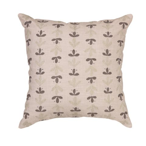 """Arden Selections Home 20"""" Throw Pillow - Grey Harley Suzani Ditsy"""