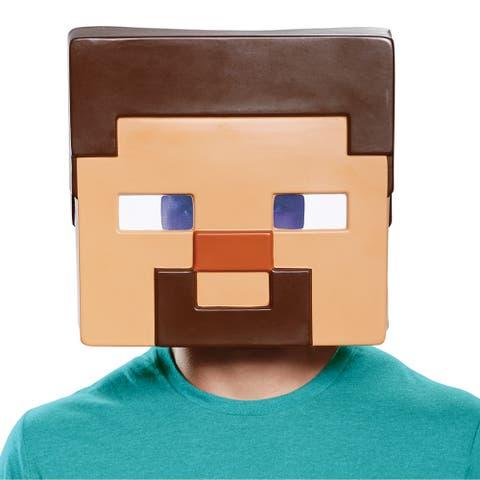 Adult Minecraft Steve Vacuform Halloween Mask - Standard - One Size