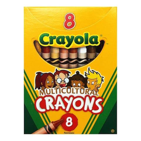 Crayola multicultural crayons reg 8pk 008w