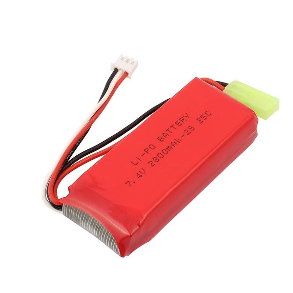 DC 7.4V 2800mAh Capacity Red Recycle Charging Lithium Battery for RC Aircraft