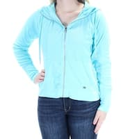 Womens Blue Casual Zip Up Jacket  Size  XS