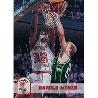 Signed Miner Harold Miami Heat 1993 Skybox Basketball Card autographed