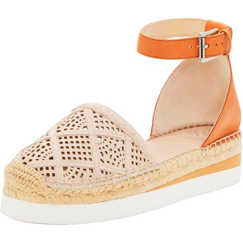 Vince Camuto Womens Brafina Espadrilles Leather Two-Tone