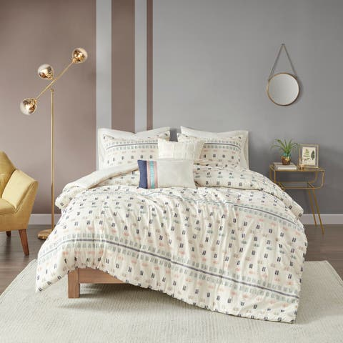 The Curated Nomad Damon 5-piece Cotton Jacquard Comforter Set
