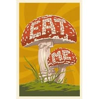 Eat Me Mushroom - LP Artwork (100% Cotton Towel Absorbent)