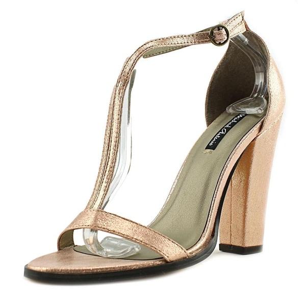 Michael Antonio Jons Women Open-Toe Synthetic Pink Heels