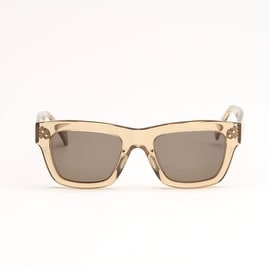 TranSparent Honey Sunglasses With Green Lens