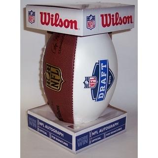 Wilson 2016 NFL Draft 3 White Panel Autograph Model Full Size Football  F1192