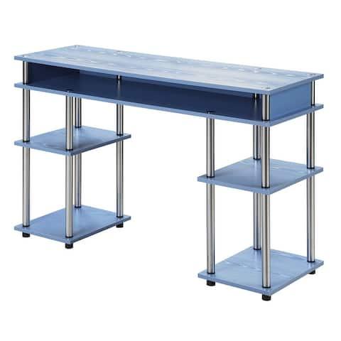 Porch & Den Japonica No Tools Student Desk with Shelves