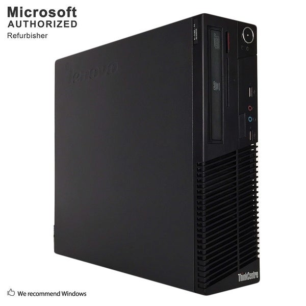 Certified Refurbished Lenovo M70E SFF, Intel E8400 3.0GHz, 8GB, 2TB HDD, DVD, WIFI, BT 4.0, VGA, W10H64 (EN/ES)