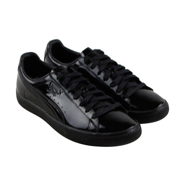 8abef2684fdf Shop Puma Clyde Dessed Mens Black Leather Lace Up Sneakers Shoes ...