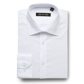 Men's Slim Fit Twill Long Sleeve Solid Business Dress Shirts