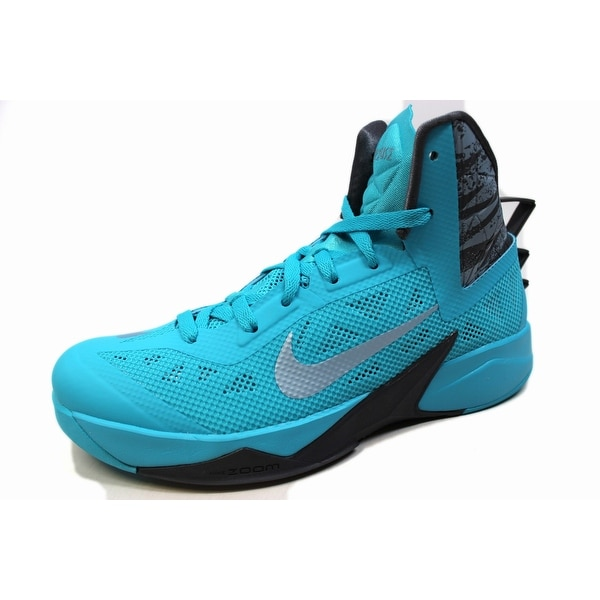 Nike Men's Zoom Hyperfuse 2013 Gamma Blue/Light Armory Blue-Dark Grey 615896-400 Size 8.5