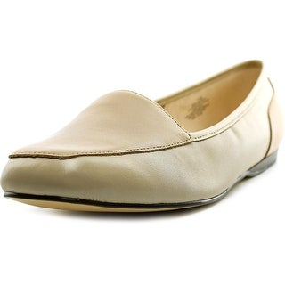 Bandolino Liberty Women Square Toe Leather Nude Loafer