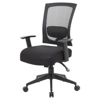 Norstar B6716-SS-BK 25 in. Bas Black Mesh Chair W - Seat Slider