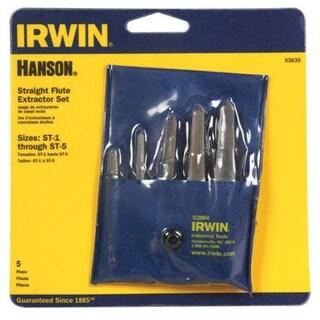 Hanson 53635 Straight Screw Extractor Set, 5 Piece