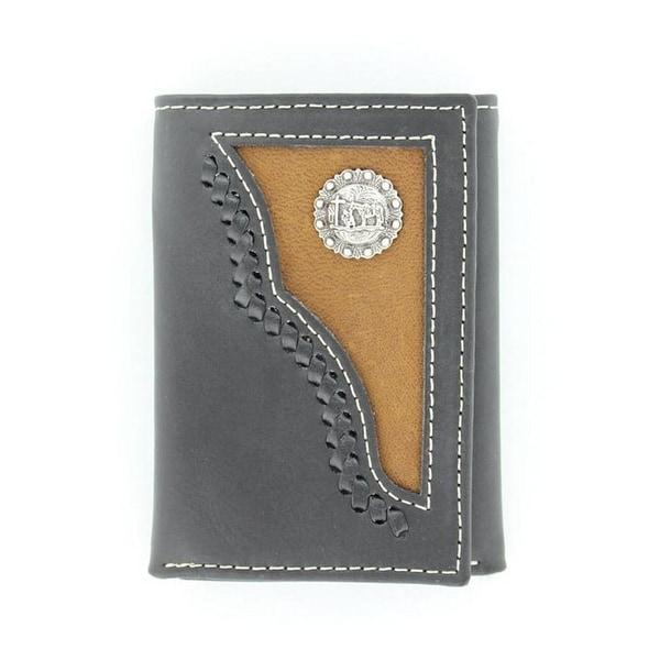 Nocona Western Wallet Mens Trifold Cowboy Prayer Black Brown - One size