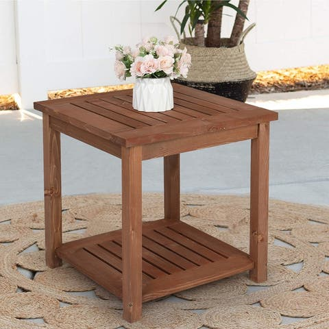 Outdoor Fir Wood End, Coffee, Side Table