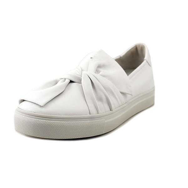 Kennel & Schmenger Bow Women Round Toe Leather White Loafer