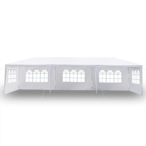 10'x30' Five Sides Waterproof Tent with Spiral Tubes - White