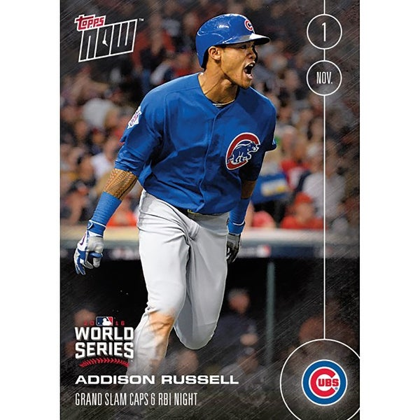 Mlb Chicago Cubs Addison Russell 651 2016 Topps Now Trading Card Multi