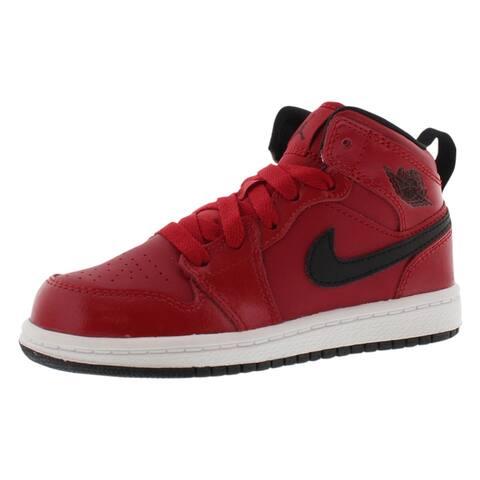 pretty nice 519c6 da4ee Jordan Air Jordan 1 Mid Basketball Preschool Boy s Shoes - 1.5 M